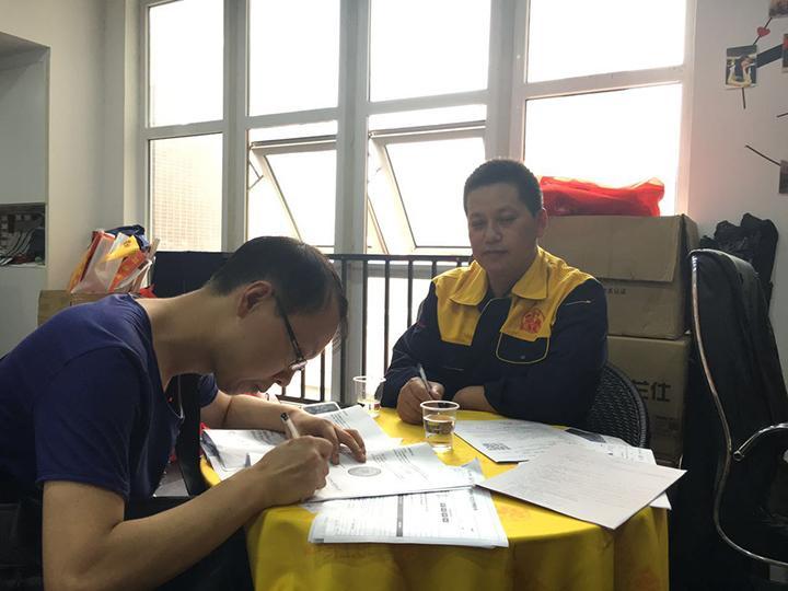 石美华工长签约汉北广场