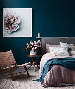 习惯了白色墙面?这些炫彩墙面给卧室来点新花样