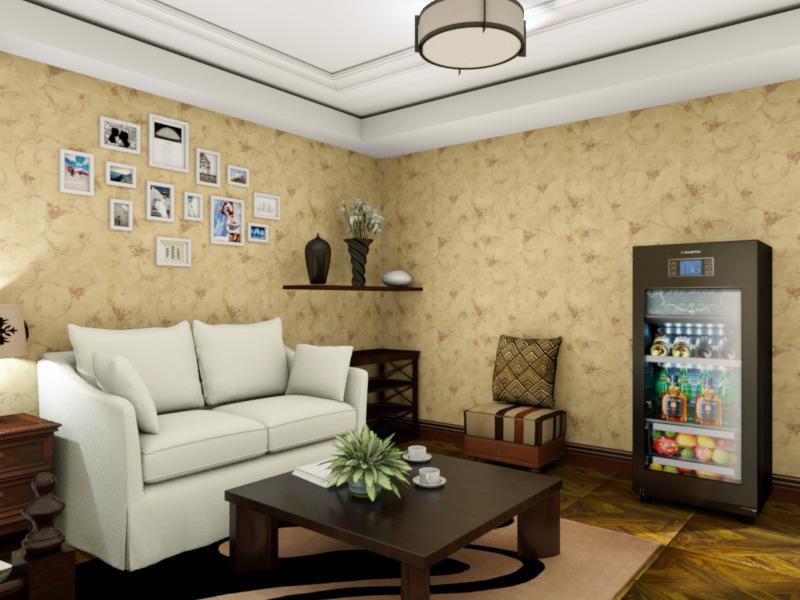 一室一厅55㎡复古混搭风小平房设计