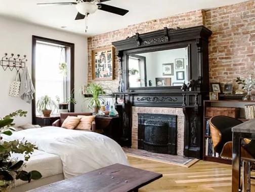 22㎡复古风,小空间也可以拥有大浴缸和大厨房