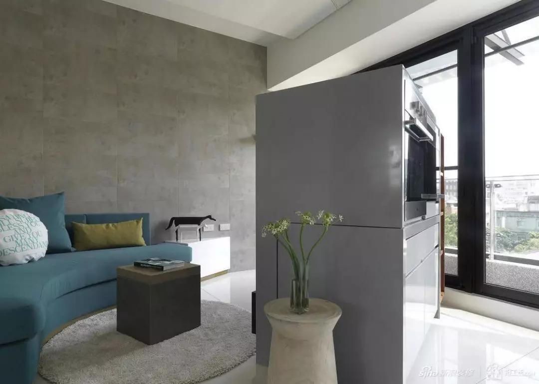 46㎡简约两居:这件家具斜着摆,不仅一室变两室,还这样漂亮!