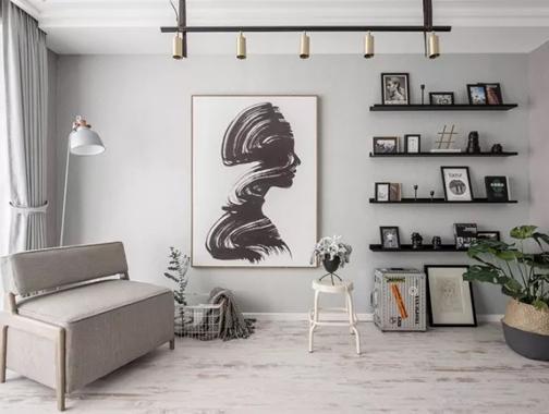 175㎡北欧风,一步一景,黑白灰的完美诠释,复古家具凸显生活格调