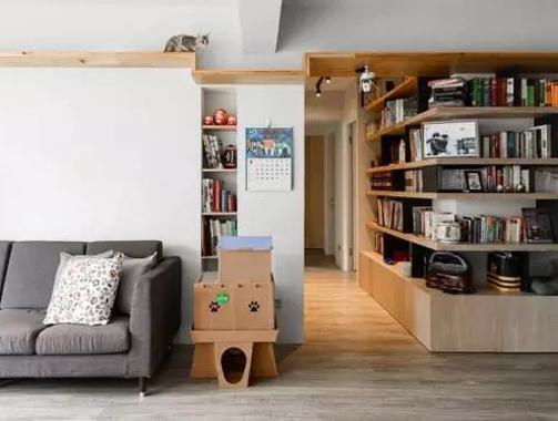 2人4猫温暖的家,走廊、餐厅变书房,太惊艳了!