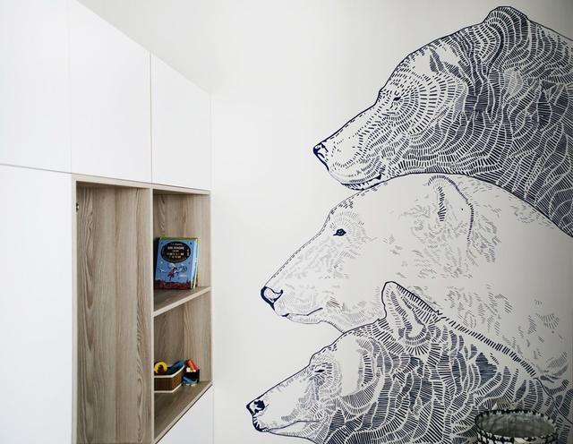 隐形门、攀岩墙、还有北极熊,75㎡的小房子,看战斗民族是怎么装修的?