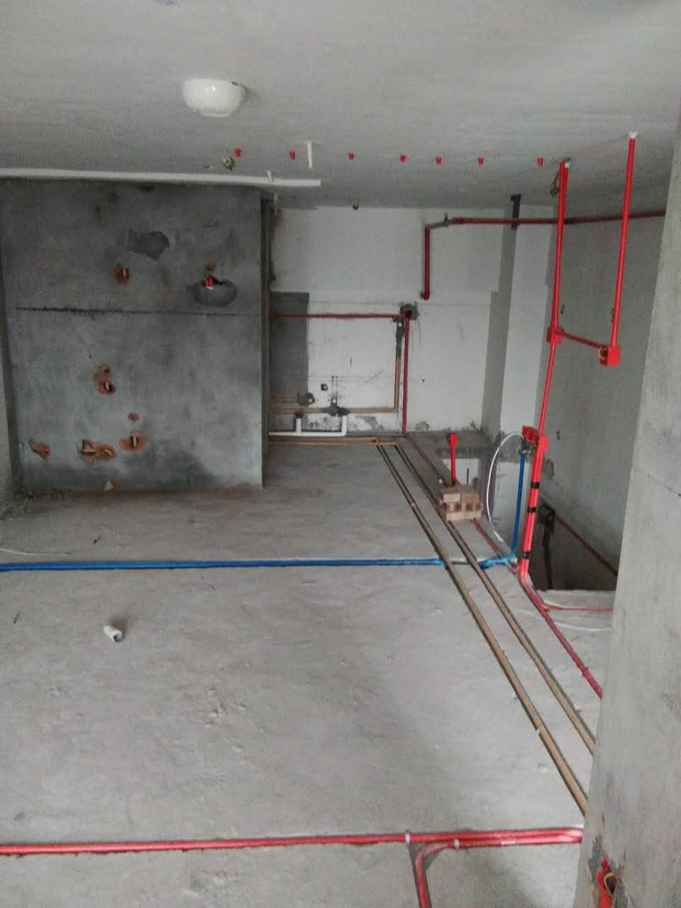 天茂公寓水电工程装修现场——葛夏工长