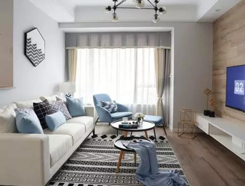 81㎡北欧风三居,只留一半电视墙,整个家竟一点光线死角都没有!