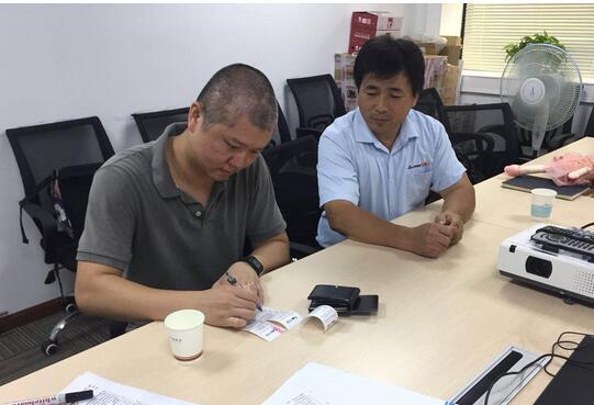 恭喜黄学松工长签约成功