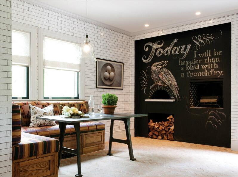 文青小资的黑板涂鸦墙 你家也该试试