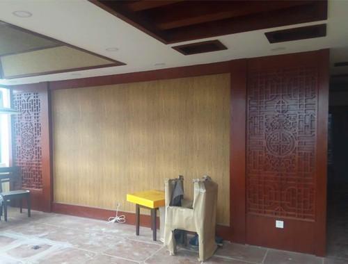 中式花格元素背景墙