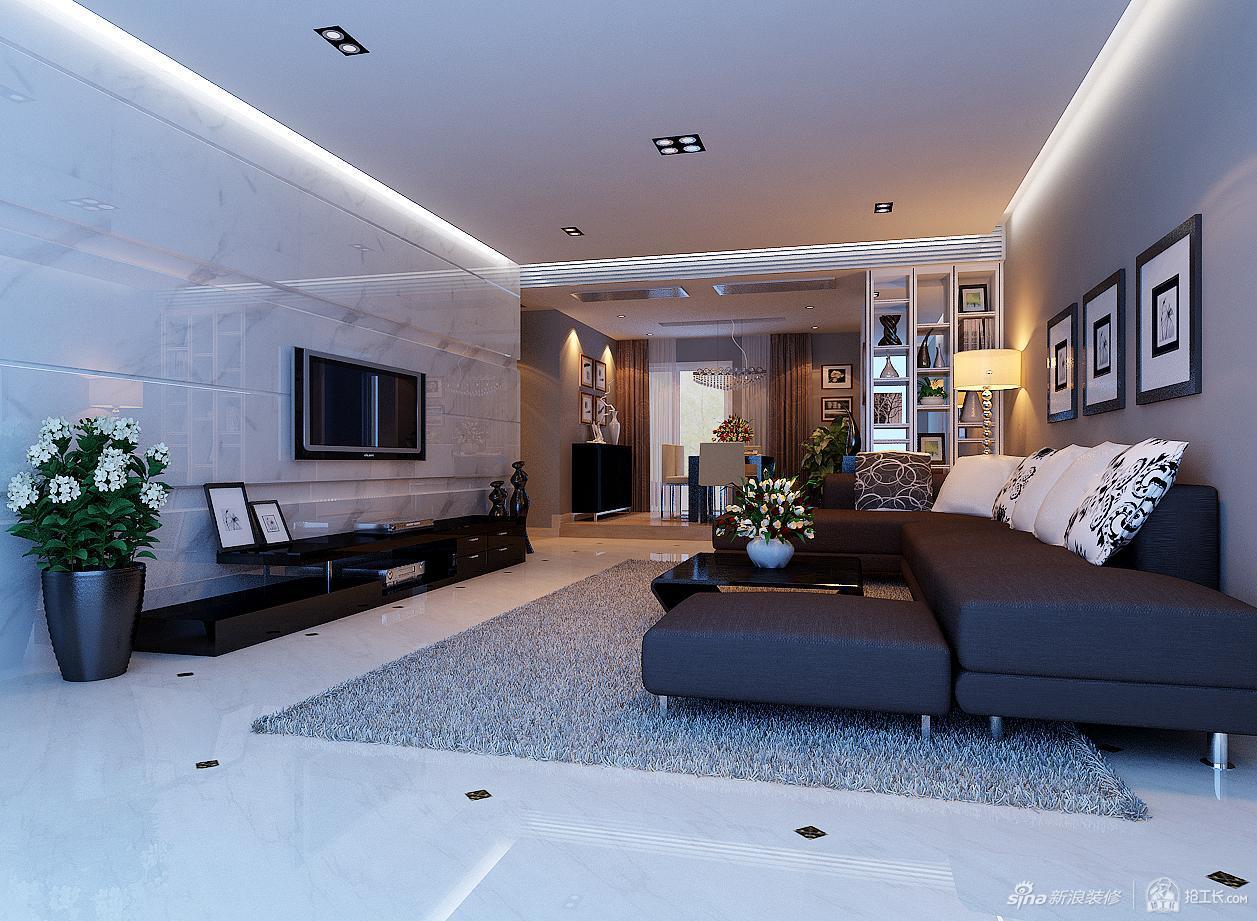 120平现代简约三居室
