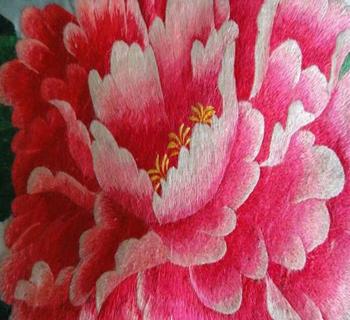 桃花刺绣花纹素材