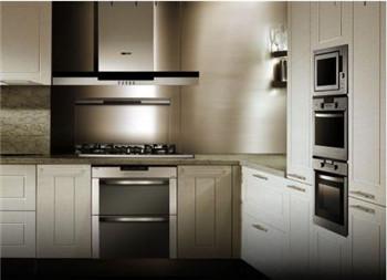 工作人员介绍说,与普通冰箱不同,嵌入式冰箱在柜门设置铰链,使之与图片