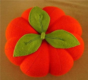 南瓜抱枕的编织方法
