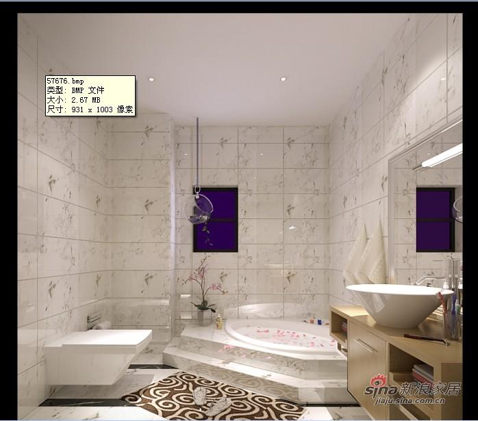 混搭 别墅 卫生间图片来自用户1907691673在新中式混搭尊享极品豪宅41的分享