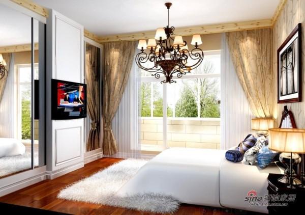 150平田园三居室卧室设计
