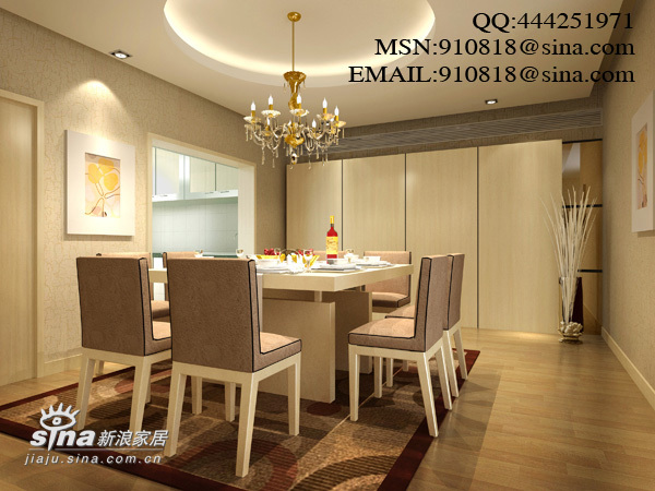 简约 四居 餐厅图片来自用户2557979841在现代风格之金汇豪庭42的分享