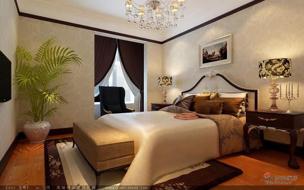 133平美式风格三居室银泰御华园装修设计