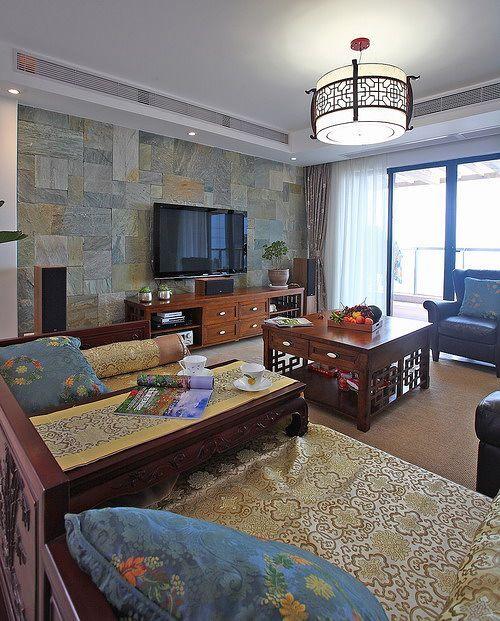 中式 三居 客厅图片来自用户1907661335在18万豪装大叔153平中式情怀美家43的分享