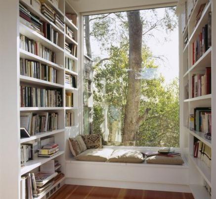 这样的飘窗 这样的书房,真是要了命了,我愿意为它当宅女!