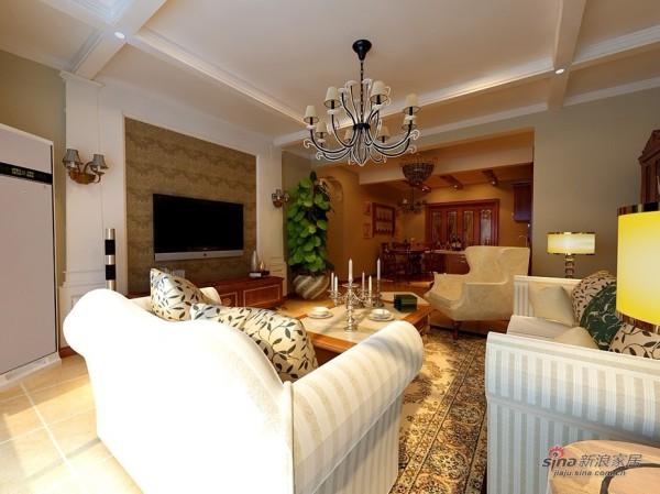 欧式 二居 客厅图片来自用户2745758987在130平品味完美欧式情调30的分享