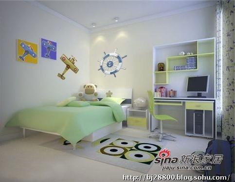 简约 三居 儿童房图片来自用户2737782783在小巧妈花8万打造145㎡简约温馨3居22的分享