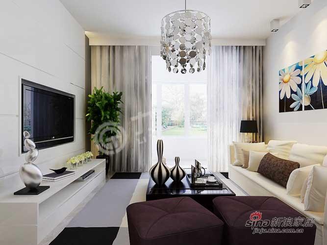 简约 一居 客厅图片来自阳光力天装饰在旷世新城24的分享