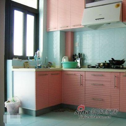 混搭 复式 厨房图片来自用户1907689327在12万装130平惊艳色彩复式94的分享