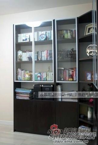 简约 三居 书房图片来自用户2737950087在120平大户型三居室整体翻新得到完美98的分享