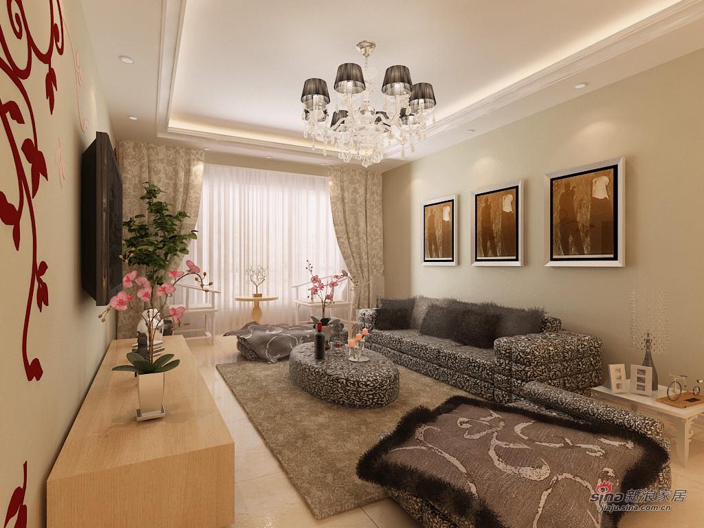 简约 三居 客厅图片来自阳光力天装饰在国耀上河城-三室两厅一厨一卫-现代简约37的分享