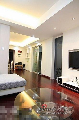 简约 二居 客厅图片来自用户2557979841在清新范儿8万搞定90平两居室83的分享