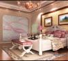主卧墙面与地板近色搭配,家具用浅色,既拉