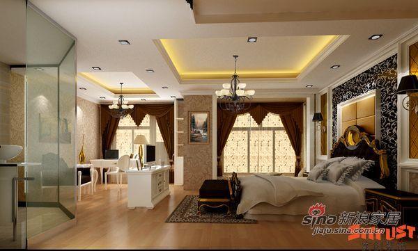 北欧 别墅 卧室图片来自用户1903515612在花20万装320平米的新低调奢华欧式设计60的分享