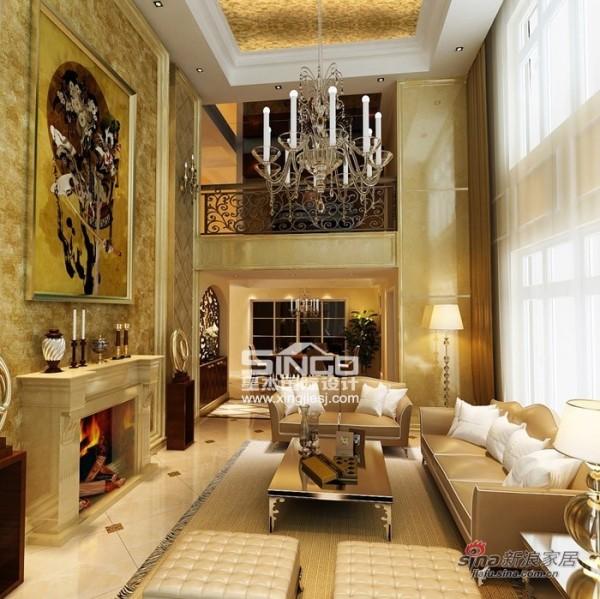 星杰国际设计75万装修350㎡ 欧式风格