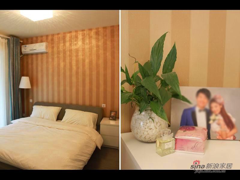 简约 二居 卧室图片来自用户2737782783在【高清】5万打造89平简约个性小家17的分享