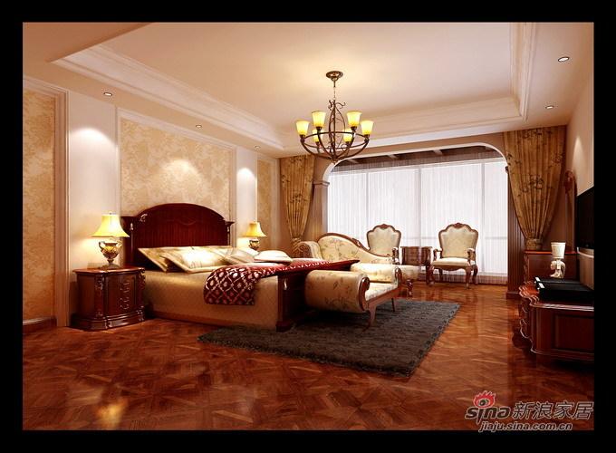 欧式 三居 卧室图片来自用户2746948411在9.4万搭建160平皇朝宫殿31的分享