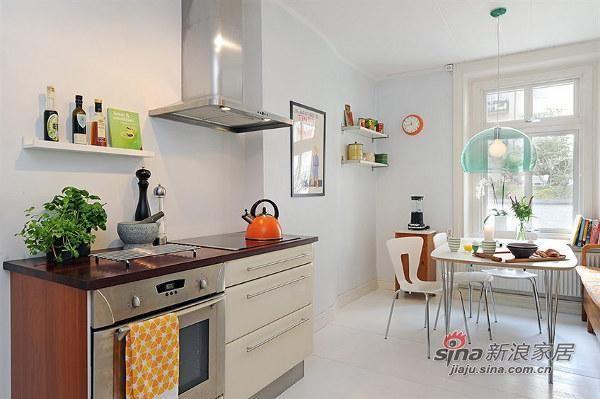 欧式 三居 厨房图片来自用户2757317061在北欧风格公寓 优雅而精致27的分享