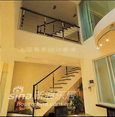 简约 别墅 楼梯图片来自用户2737735823在简洁素雅妆扮温馨别墅44的分享