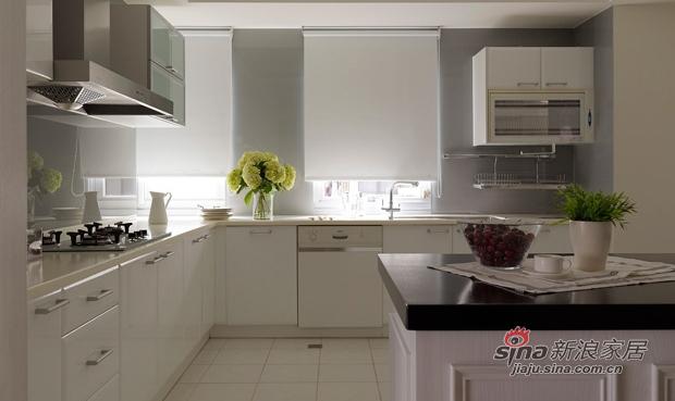 美式 三居 厨房图片来自佰辰生活装饰在9万打造170平纯白美式大气家64的分享