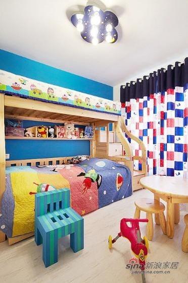 简约 复式 儿童房图片来自用户2738813661在一套200平方简约低调奢华混搭四居室复式55的分享