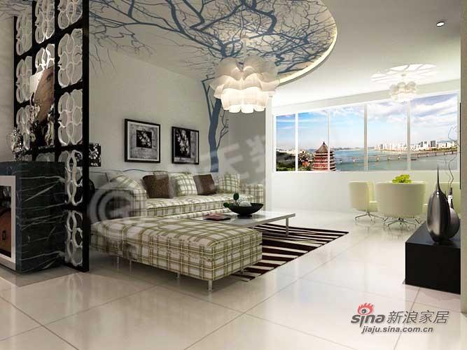 简约 三居 客厅图片来自阳光力天装饰在134平天鹅湖1号91的分享
