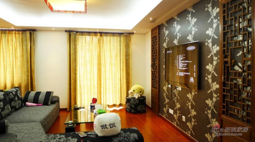 """中式 四居 客厅图片来自用户1907659705在""""情"""" 院29的分享"""