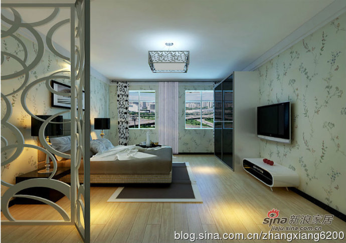 简约 二居 卧室图片来自用户2738093703在6.3万缔造天鸿美域幸福三口之家29的分享