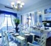 美人鱼的奢华世界 82平方梦幻感蓝色复式家装41