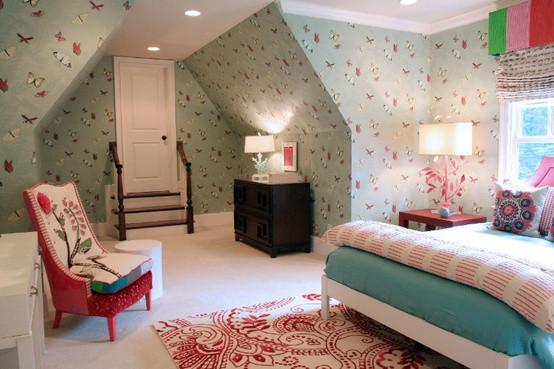 欧式田园阁楼卧室