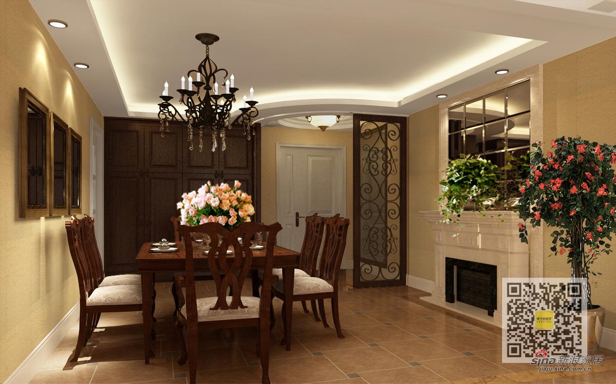 美式 三居 餐厅图片来自用户1907686233在美式风格装修设计案例12的分享