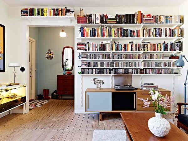 充分利用客厅的每一寸空间!客厅和书房融为一体,生活绝对不枯燥!