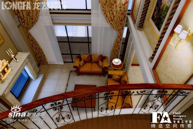 欧式 跃层 客厅图片来自用户2746869241在中海华庭--古典欧式74的分享
