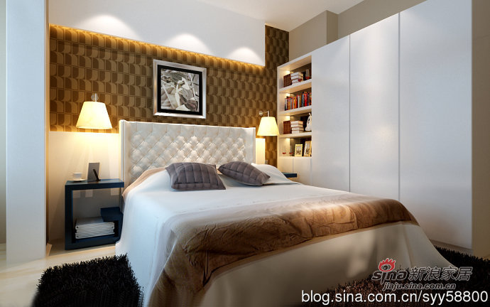 简约 二居 卧室图片来自用户2557979841在5.3万元演绎时尚温馨的贻成豪庭85平二居室31的分享