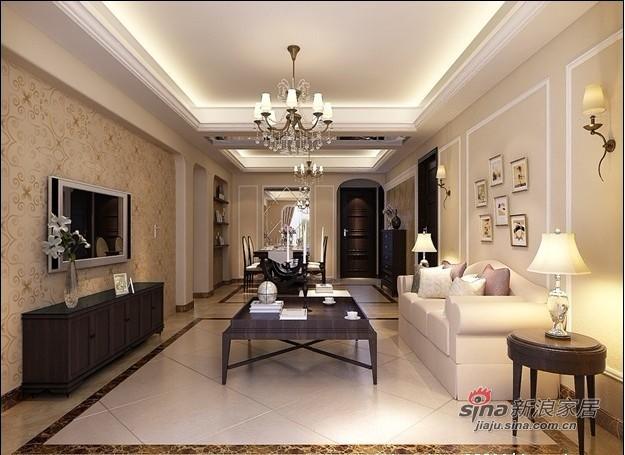 欧式 三居 客厅图片来自用户2772856065在10万整体装修150平米简欧老房78的分享
