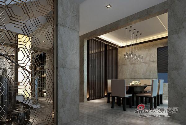 简约 别墅 餐厅图片来自用户2739081033在280㎡中邦城市别墅样板房87的分享